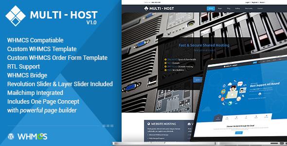 دانلود قالب هاستینگ برای WHMCS و وردپرس Multi Hosting v1.5.2