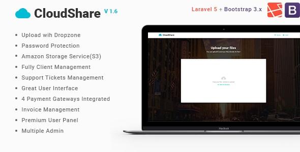 دانلود اسکریپت اشتراک گذاری فایل CloudShare v1.6