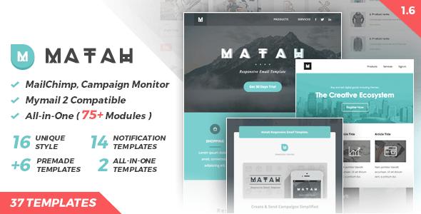 دانلود قالب های آماده برای ایمیل مارکتینگ Matah v1.6