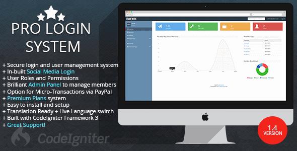 دانلود اسکریپت سیستم مدیریت کاربران Pro Login User v1.4
