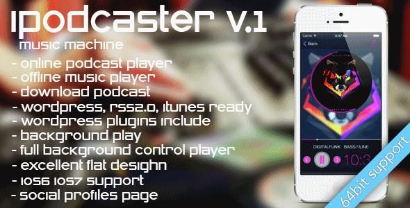 دانلود سورس ای او اس نرم افزار پخش موسیقی iPodcaster