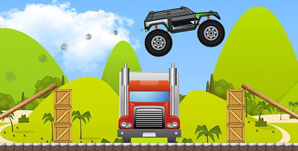 دانلود سورس اندروید بازی ماشین و موانع Monster Truck