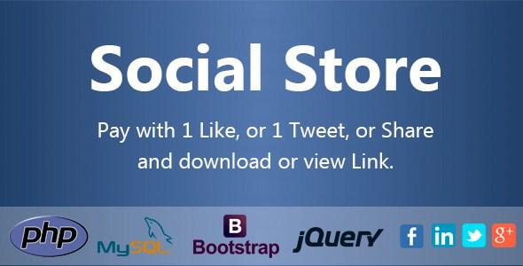 دانلود اسکریپت نمایش لینک دانلود در ازای اشتراک و لایک Social Store v1.1