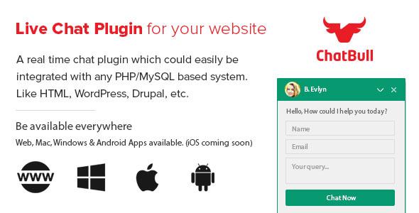 دانلود اسکریپت چت و پشتیبانی مشتریان Chatbull v2.0