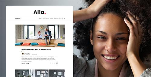 پوسته وبسایت شخصی Alia