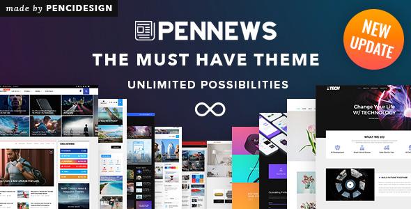 پوسته مجله خبری PenNews وردپرس