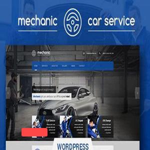 قالب خدمات خودرو Mechanic